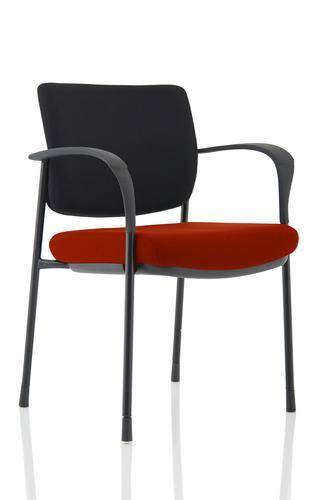 Brunswick Deluxe Black Frame Bespoke Seat Ginseng Chilli
