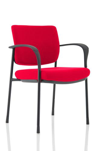 Brunswick Deluxe Black Frame Bespoke Colour Back And Seat Bergamot Cherry With Arms