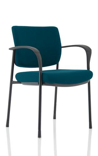 Brunswick Deluxe Black Frame Bespoke Colour Back And Seat Maringa Teal With Arms