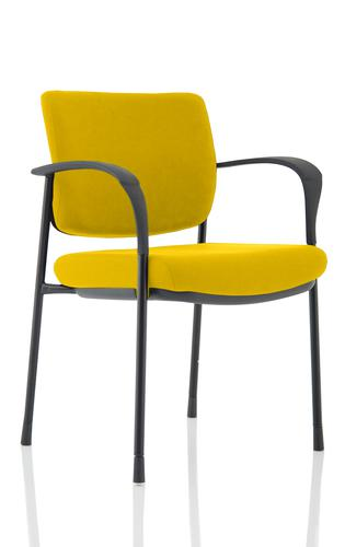 Brunswick Deluxe Black Frame Bespoke Colour Back And Seat Senna Yellow With Arms