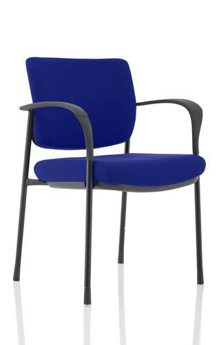 Brunswick Deluxe Black Frame Bespoke Colour Back And Seat Stevia Blue With Arms