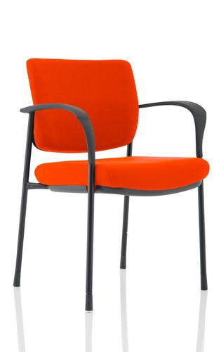 Brunswick Deluxe Black Frame Bespoke Colour Back And Seat Tabasco Red With Arms