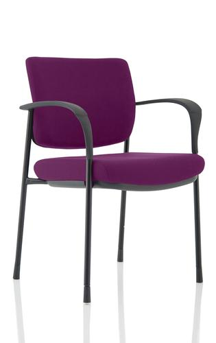 Brunswick Deluxe Black Frame Bespoke Colour Back And Seat Tansy Purple With Arms