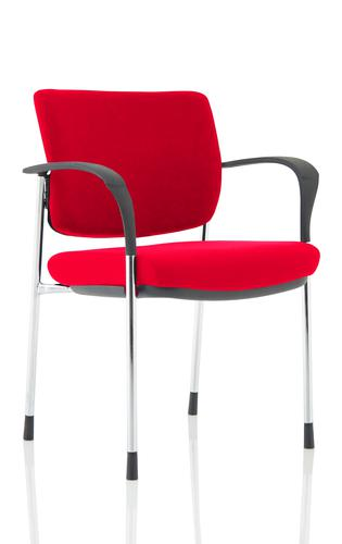 Brunswick Deluxe Chrome Frame Bespoke Colour Back And Seat Bergamot Cherry With Arms