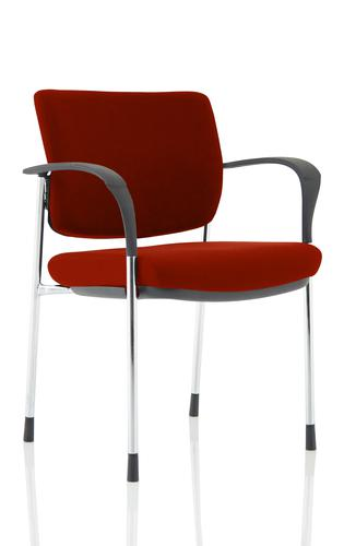 Brunswick Deluxe Chrome Frame Bespoke Colour Back And Seat Ginseng Chilli With Arms