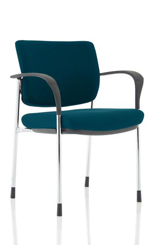 Brunswick Deluxe Chrome Frame Bespoke Colour Back And Seat Maringa Teal With Arms