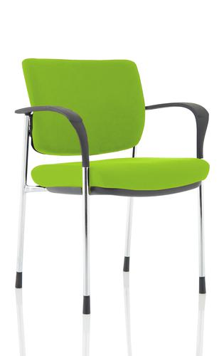 Brunswick Deluxe Chrome Frame Bespoke Colour Back And Seat Myrrh Green With Arms