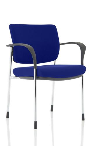 Brunswick Deluxe Chrome Frame Bespoke Colour Back And Seat Stevia Blue With Arms