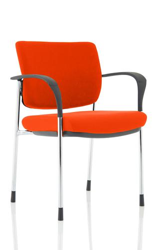 Brunswick Deluxe Chrome Frame Bespoke Colour Back And Seat Tabasco Red With Arms