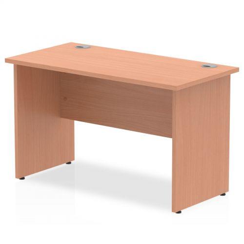 Impulse 1200 x 600mm Straight Desk Beech Top Panel End Leg MI001729