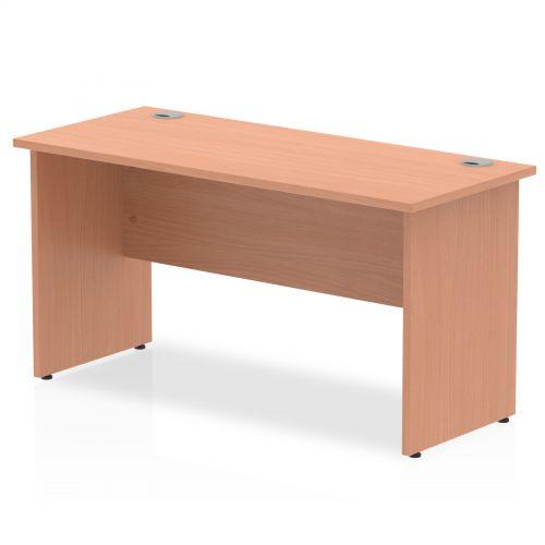 Impulse 1400 x 600mm Straight Desk Beech Top Panel End Leg MI001730