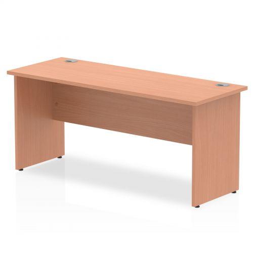 Impulse 1600 x 600mm Straight Desk Beech Top Panel End Leg MI001731