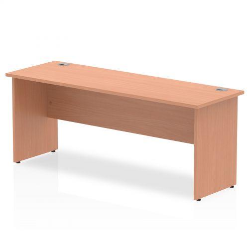 Impulse 1800 x 600mm Straight Desk Beech Top Panel End Leg MI001732