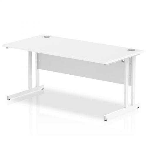 Impulse 1600/800 Rectangle White Cantilever Leg Desk White