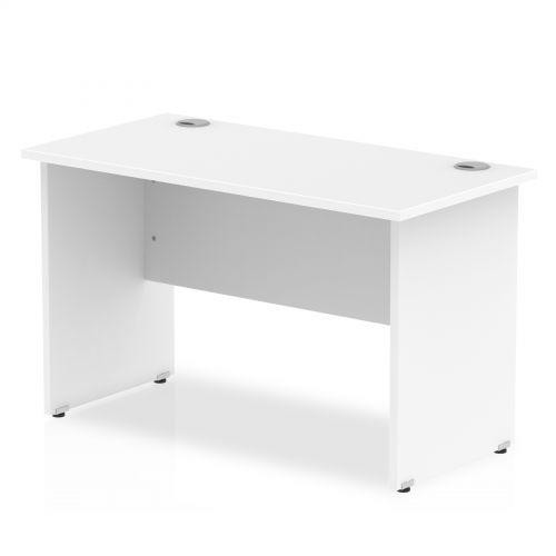 Impulse 1200 x 600mm Straight Desk White Top Panel End Leg MI002246