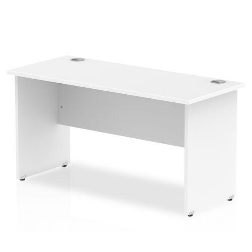 Impulse 1400 x 600mm Straight Desk White Top Panel End Leg MI002247