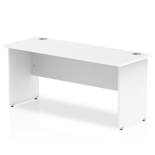 Impulse 1600 x 600mm Straight Desk White Top Panel End Leg MI002248