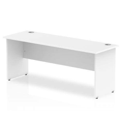 Impulse 1800 x 600mm Straight Desk White Top Panel End Leg MI002249