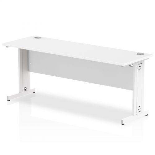 Impulse 1800/600 Rectangle White Cable Managed Leg Desk White