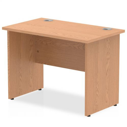 Impulse 1000/600 Rectangle Panel End Leg Desk Oak