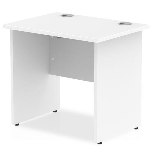 Impulse 800/600 Rectangle Panel End Leg Desk White