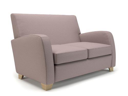 Wynne 132cm Wide Sofa Flint Fabric Light Wood Feet