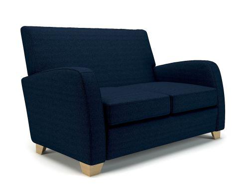 Wynne 132cm Wide Sofa Forward Fabric Light Wood Feet