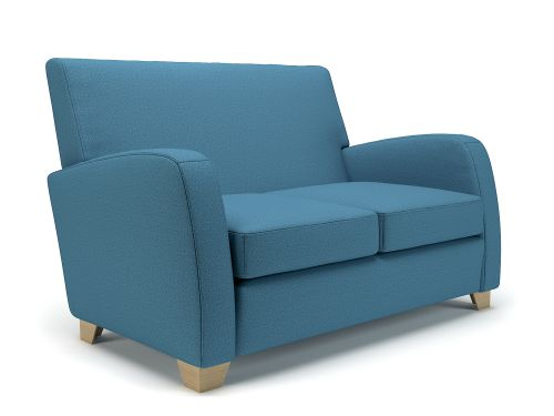 Wynne 132cm Wide Sofa Lagoon Fabric Light Wood Feet
