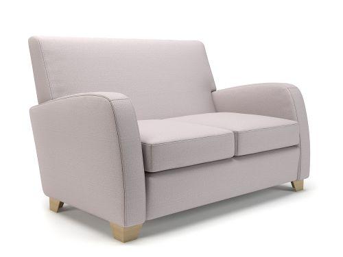 Wynne 132cm Wide Sofa Linen Fabric Light Wood Feet