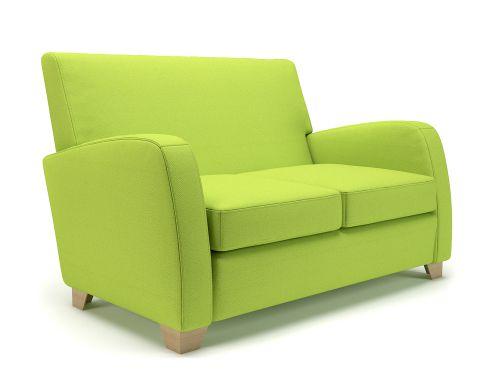 Wynne 132cm Wide Sofa Period Fabric Light Wood Feet