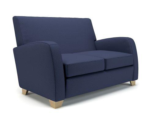 Wynne 132cm Wide Sofa Poppy Fabric Light Wood Feet