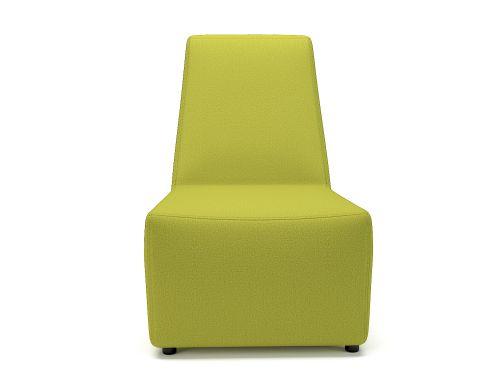 Pella 65cm Wide Chair Citron Fabric Standard Feet