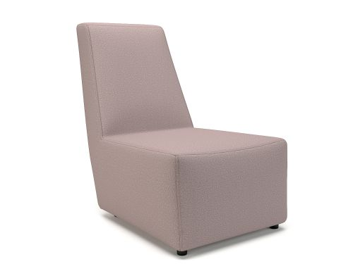 Pella 65cm Wide Chair Flint Fabric Standard Feet
