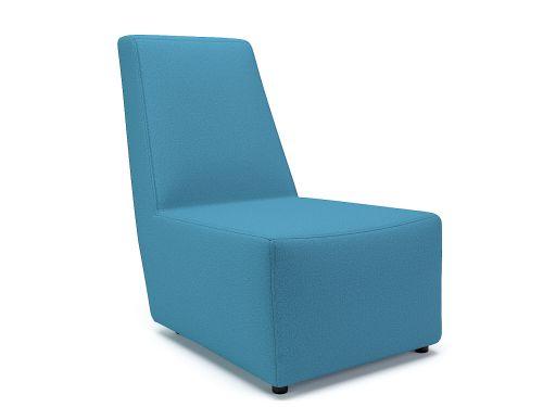 Pella 65cm Wide Chair Lagoon Fabric Standard Feet