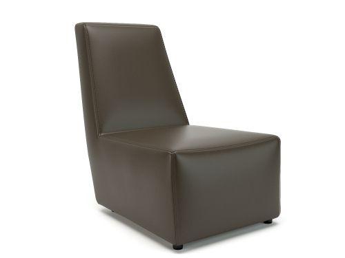 Pella 65cm Wide Chair Mocha Faux Leather Standard Feet