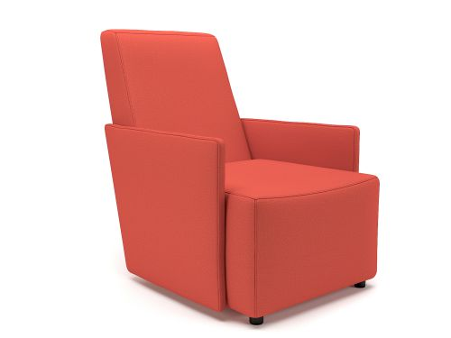 Pella 69cm Wide Armchair Marmalade Fabric Standard Feet