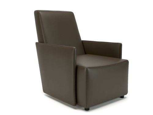 Pella 69cm Wide Armchair Mocha Faux Leather Standard Feet