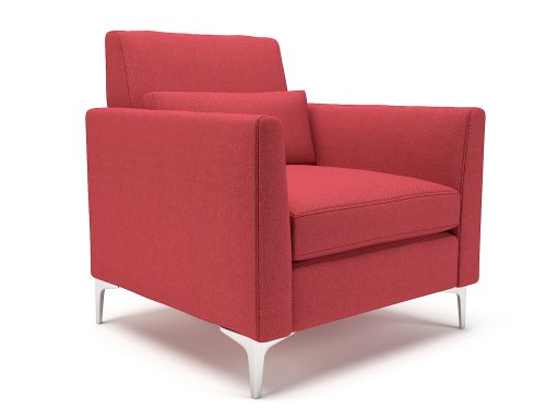 Roselle 90cm Wide Armchair Cycle Fabric Chrome Feet