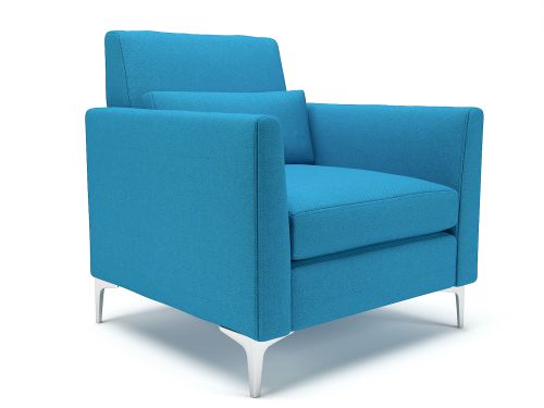 Roselle 90cm Wide Armchair Everlasting Fabric Chrome Feet