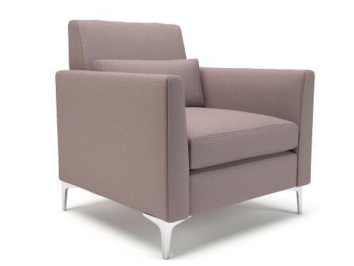 Roselle 90cm Wide Armchair Flint Fabric Chrome Feet
