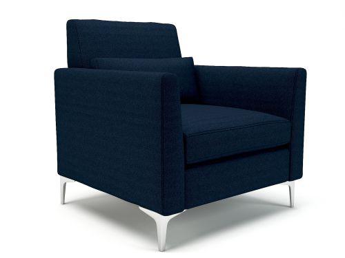 Roselle 90cm Wide Armchair Forward Fabric Chrome Feet