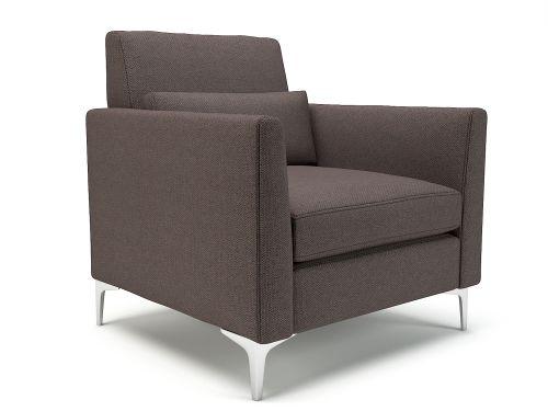 Roselle 90cm Wide Armchair History Fabric Chrome Feet