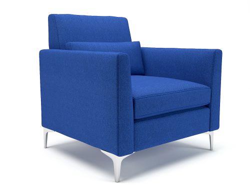 Roselle 90cm Wide Armchair Perennial Fabric Chrome Feet