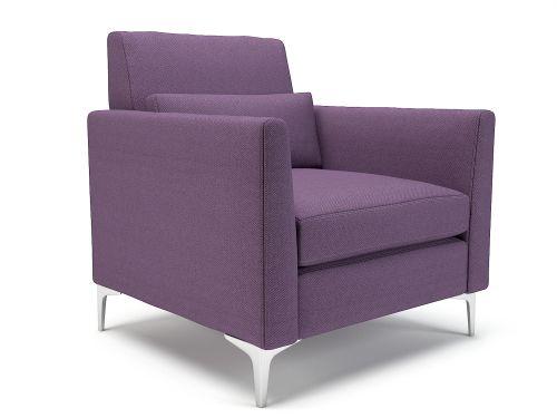 Roselle 90cm Wide Armchair Prime Fabric Chrome Feet