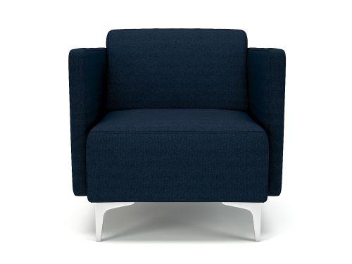 Napa Slim Arm 75cm Wide Armchair Forward Fabric Chrome Feet
