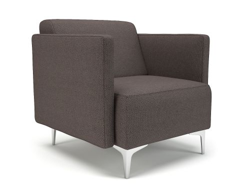 Napa Slim Arm 75cm Wide Armchair History Fabric Chrome Feet
