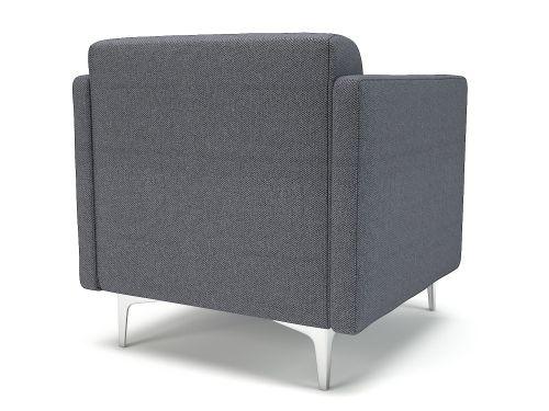 Napa Slim Arm 75cm Wide Armchair Present Fabric Chrome Feet