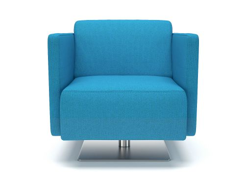 Napa Slim Arm 75cm Wide Swivel Armchair Everlasting Fabric