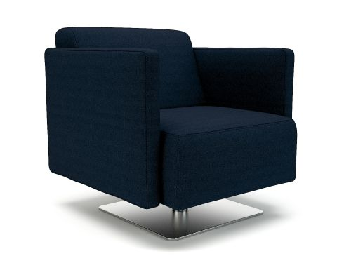 Napa Slim Arm 75cm Wide Swivel Armchair Forward Fabric