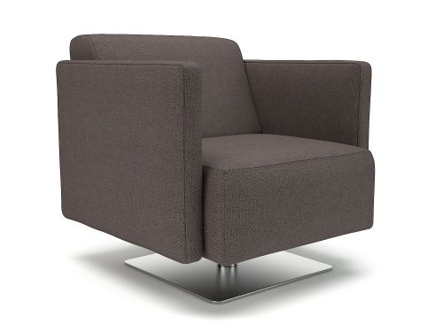 Napa Slim Arm 75cm Wide Swivel Armchair History Fabric